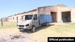 В Дагестане подожгли машину для перевозки скота