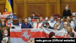 Ali Radada Belarus müxalifətinə dəstək aksiyası