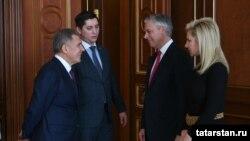 Татарстан президенты белән очрашу