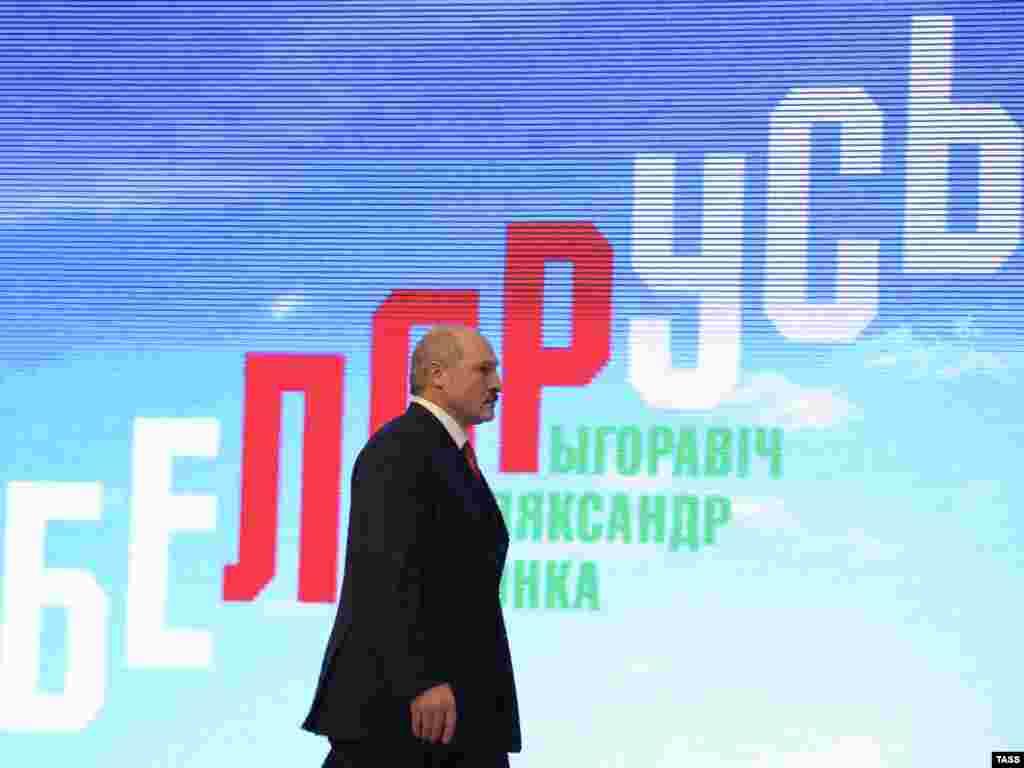 Bjelorusija - Ponovo izabrani predsjednik Alyaksandr Lukashenko na konferenciji za novinare poslije objavljivanja izbornih rezultata, 20.12.2010. Foto: ITAR-TASS/ Alexei Filippov