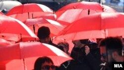 Красный зонт - символ отмечаемого ежегодно 17 декабря международного Дня защиты секс-работниц от насилия и жестокости
