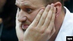 Алексей Навальный в зале суда, Москва, 17 февраля 2015 года.