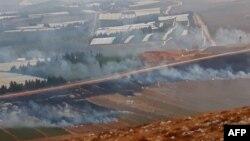 Пожежі в полях на півдні Лівану – як заявляє «Хезболла», їх спричинили артудари Ізраїлю, 1 вересня 2019 року
