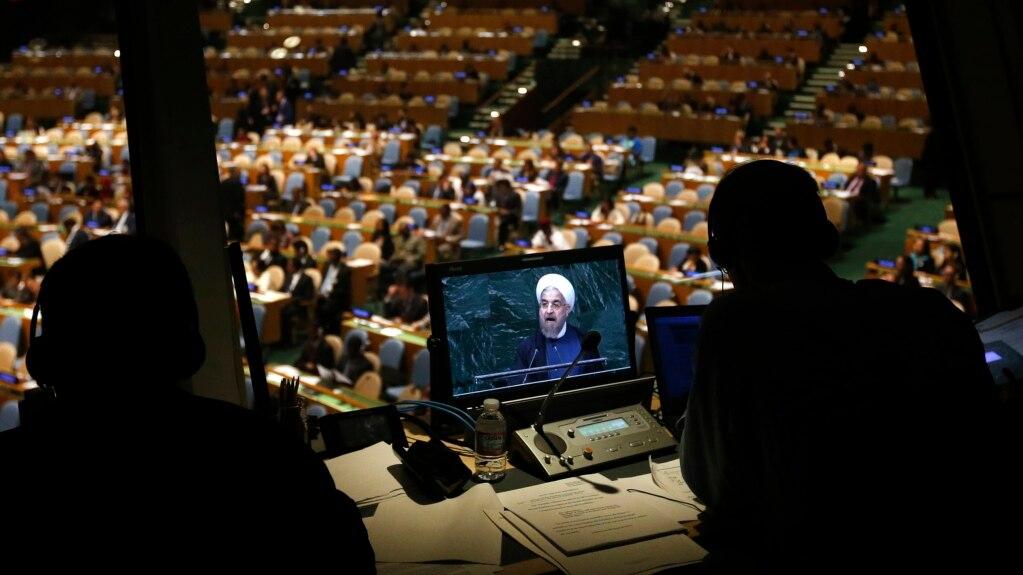 Iranski predsjednik Hasan Rohani tokom obraćanja Generalnoj skupštini UN, 25. septembra