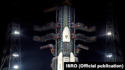 """Космический аппарат """"Чандраян-2"""" на стартовой площадке."""