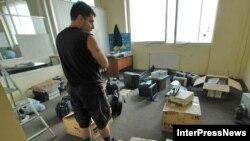 «Samşoblo» nəşriyyatında yerləşən KİV-lərin çıxarılması polislə jurnalistlər arasında insident yaratmışdı