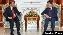 رئيس حكومة إقليم كردستان العراق نيجيرفان بارزاني ورئيس مجلس النواب سليم الجبوري