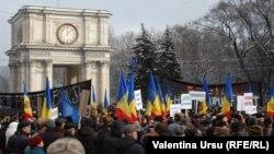 Антивладини протести во Кишињев.
