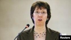 Catherine Ashton la Geneva