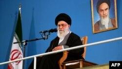 Иран елінің көсемі Аятолла Әли Хаманеи. Тегеран, 7 ақпан 2013 жыл.