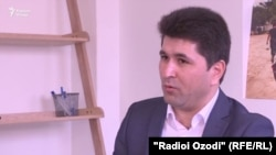 Sharofiddin Gadoev during his interview with RFE/RL on March 9
