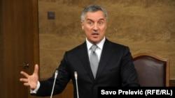 Milo Đukanović drži premijerski čas u skupštini