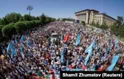Шествие «Бессмертный полк» в Алматы. 9 мая 2018 года.