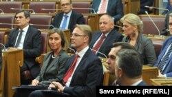 Федеріка Могеріні в парламенті Чорногорії, Подгориця, 1 березня 2017 року