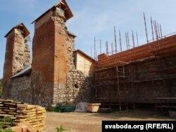 Княская вежа Крэўскага замка пасьля кансэрвацыі