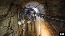 Один из туннелей, который использовали для нападений боевики ХАМАС