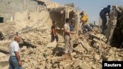 Şaýy metjidiniň harabalygy, Mosul, 23-nji iýul, 2014.