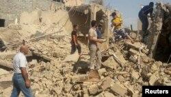 """""""Ислам мемлекеті"""" тобының содырлары қиратқан шиитт мешіттерінің бірі. Мосул, Ирак, 23 шілде 2014 жыл."""