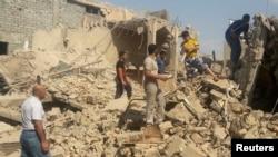 آثار تفجير أحد الأضرحة في الموصل