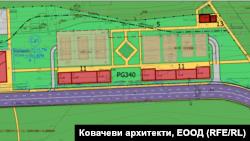 """Частта от предложения Подробен устройствен план за парк """"Борисова градина"""", която обхваща бившата Гара Пионер"""