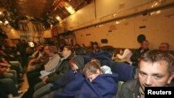 Эвакуацыя людзей зь Лібіі на самалёце МНС Расеі.