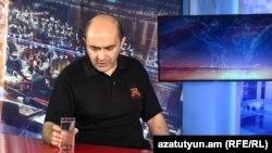 Лидер партии «Лусавор Айастан» Эдмон Марукян в студии Азатутюн ТВ, Ереван, 14 июля 2019 г.