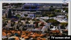 Snimka Sarajeva s pogođenim civilnim objektima