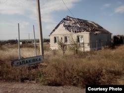 Обстріляний будинок у Щасті, Луганщина