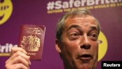 Jedan od pristalica Brexita lider UKIP-a, Nigel Farage