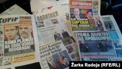 Naslovne strane medija u Srbiji dan nakon posete Rame Beogradu