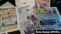 Faqet kryesore të gazetave në Serbi, 11 nëntor 2014