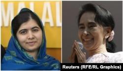 Аун Сан Су Ҷӣ аз сӯи шуморе аз барандагони Ҷоизаи Нобел мавриди интиқод қарор гирифт.