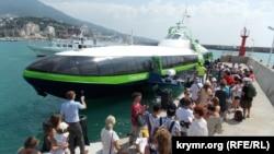 Первый рейс судна на подводных крыльях «Комета», 1 августа 2018 года