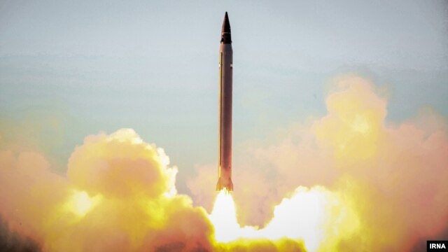 Iran conducted a test of a precision-guided ballistic missile in October.