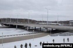Мост празь Сьвіслач па праспэкце Машэрава