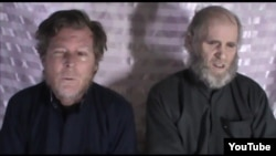 FILE: American Keven King (L) and Australian Timothy Weeks were kidnapped by the Taliban in August 2016.