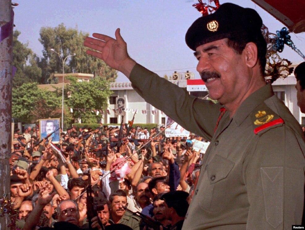 در بغداد پس از «همهپرسی» که ۹۹.۹۶ درصد آرا در آن به او رسید، برای بار چندم به مقام ریاستجمهوری برگزیده شد.
