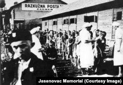 Copii în lagărul de concentrare de la Stara Gradiska