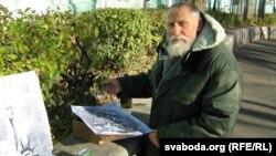 Валеры Ляшкевіч на Кіеўскім спуску ў Гомелі