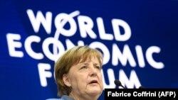 Angela Merkel astăzi la Forumul de la Davos