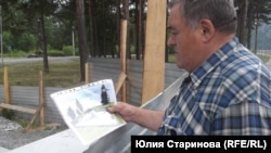 Николай Жолоб с проектом будущего сквера