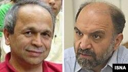 عبدالکریم سروش (راست) و ابراهیم نبوی، صاحب بیشترین »تعداد کتاب در فهرست «کتب ضاله