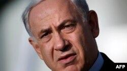 Իսրայելի վարչապետ Բենյամին Նաթանյահուն ելույթի ժամանակ, Երուսաղեմ, 16-ը հունիսի, 2014թ․