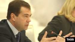 "President Dmitry Medvedev told human rights activists that ""There are many cases when the activities of nongovernmental organizations are restricted without sufficient reasons."""