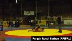 مصارعون عراقيون في بطولة غرب اسيا - الارشيف