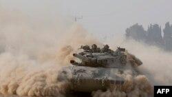 Израильская военная техника на границе с сектором Газа.