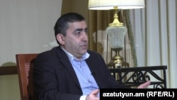 Armenia -- Dashnaktsutyun leader Armen Rustamian is interviewed by RFE/RL's Armenian service in Yerevan, 6Feb2013.