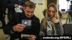 Наведнікі візавага цэнтру Польшчы ў Менску