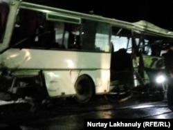 Автобус после аварии. Алматинская область, 15 сентября 2019 года.