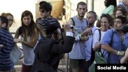 Нападение религиозного израильтянина на участников гей-парада в Иерусалиме